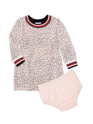 Baby Girl's Leopard-Print Sweater Dress & Bloomers