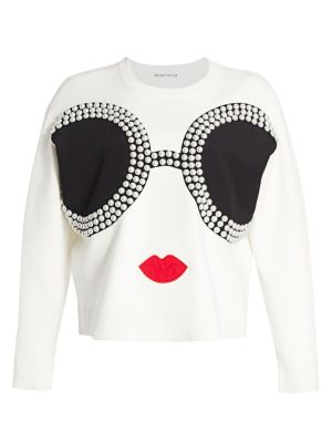 Gleeson Embellished Stace Face Pullover
