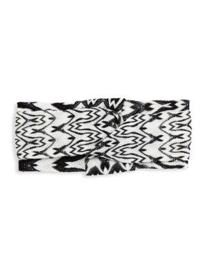 Crochet-Knit Bicolor Headband