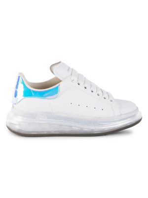 Transparent Sole Iridescent Leather Sneakers
