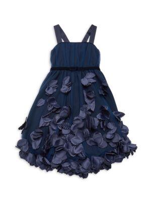 Little Girl's Ivry Floral Appliqué Dress