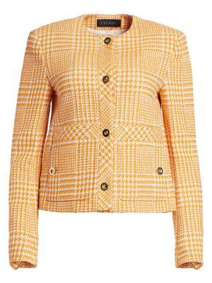 Beran Glen Plaid Cropped Jacket