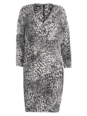 Dixani Abstract Leopard-Print Shift Dress