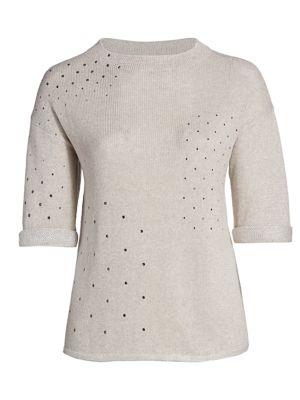 Plus Starry Eyed Embellished Sweater