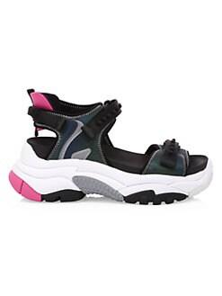 아쉬 청키 스포츠 샌들 ASH Adapt Chunky Sport Sandals,Black Fuxia