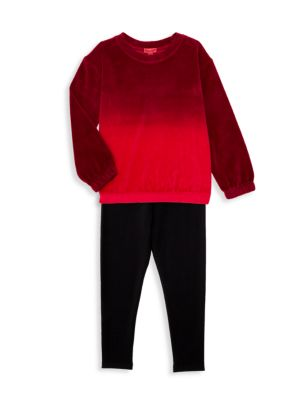 Little Girl's 2-Piece Velour Top & Pants Set
