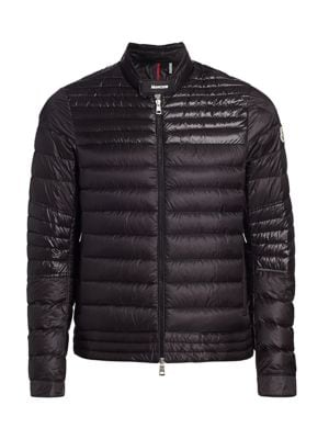 Kavir Quilted Zip-Front Down Jacket