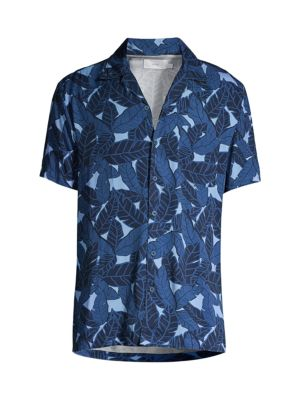 Vacation Leaf-Print Shirt