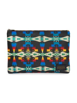 Coated Print Canvas Pouch