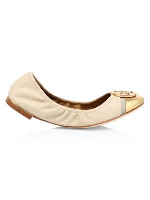 Minnie Cap-Toe Leather Ballet Flats