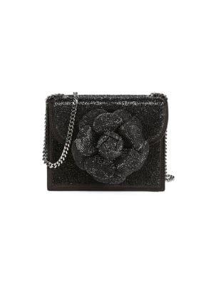 Mini Tro Crystal-Embellished Crossbody Bag