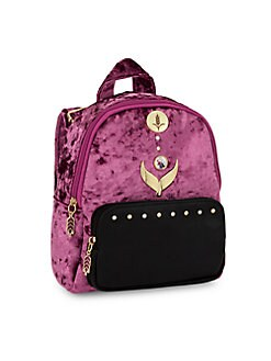 디즈니 겨울왕국2 걸즈 미니 벨벳 백팩 Fantasia Disneys Frozen 2 Girls Mini Velvet Backpack,Purple