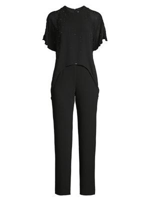 Kaizen Embellished Popover Jumpsuit