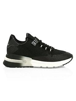 아쉬 크러쉬 스니커즈 ASH Krush High-Tech Glitter Sneakers,Black