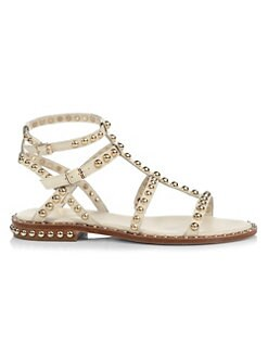 아쉬 글래디에이터 샌들 ASH Precious Studded Leather Gladiator Sandals,Ivory