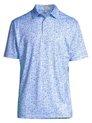Beach Print Jersey Polo