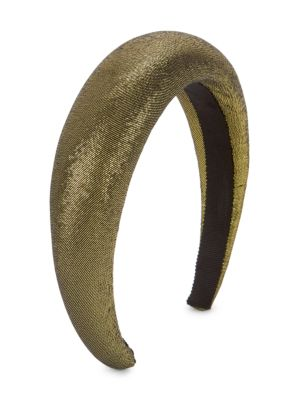 Thada Gold Lamé Padded Headband