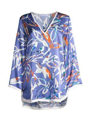 Tokyo Leaf Silk Tunic