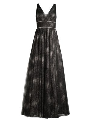 A-Line V-Neck Gown