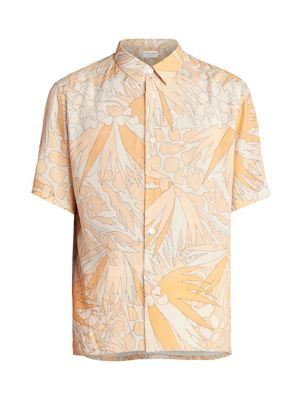 Retro Floral Short-Sleeve Shirt