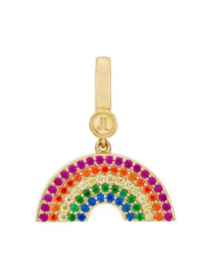 14K Goldplated Sterling Silver & Cubic Zirconia 7-Row Rainbow Charm