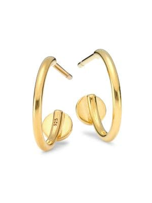 14K Goldplated Sterling Silver Hoop Earrings