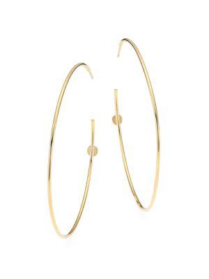 14K Goldplated Sterling Silver Post Hoop Earrings
