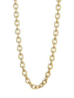 14K Goldplated Base Rolo Necklace