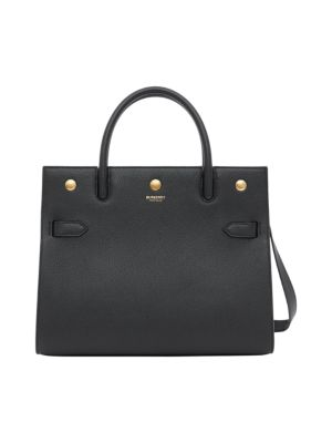 Small Title Leather Satchel