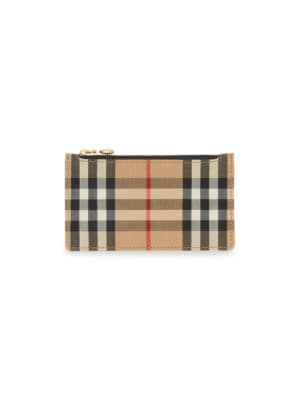 Somerset Vintage Check Leather Zip Card Case