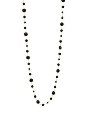 Lollipop® Long Lollitini 18K Yellow Gold & Onyx Necklace