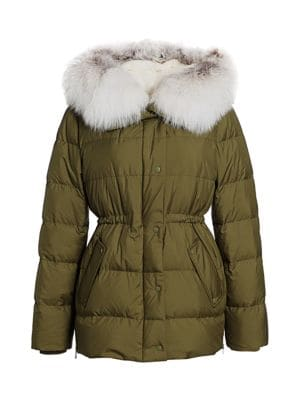 Julia & Stella For The Fur Salon Quilted Rabbit-Lined & Fox-Trimmed Jacket