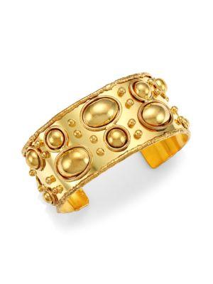 Byzance 22K Yellow Goldplated Cuff