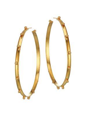 Extra-Large Creole 22K Goldplated Hoop Earrings