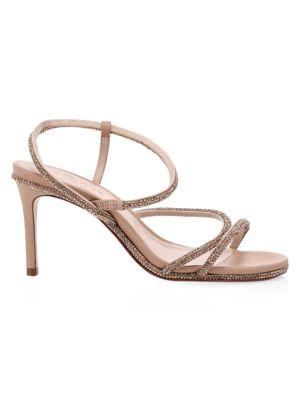 Twyla Fay Crystal-Embellished Leather Sandals