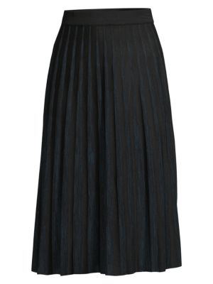 Crystal Pleated Knit Skirt
