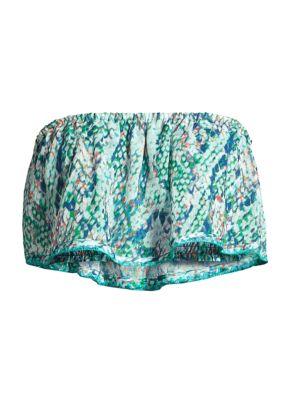 Meena Printed Strapless Top