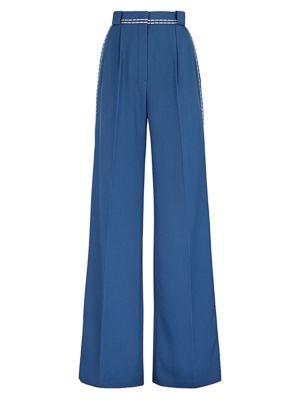 Garbadine Twill High-Waist Pants