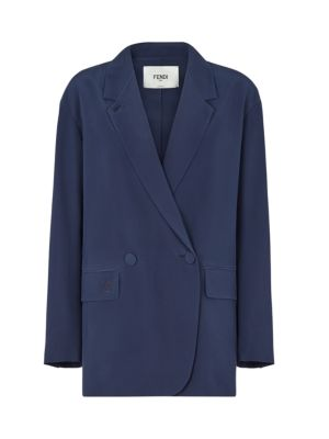 Silk Crepe De Chine Double Breasted Jacket