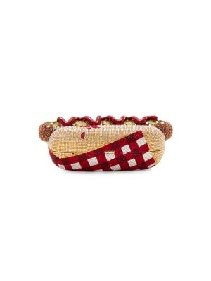Hot Dog Crystal Clutch