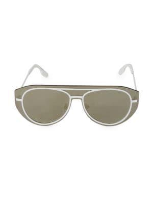 32MM Metal Shield Sunglasses