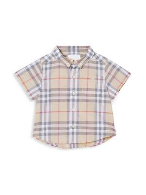 Baby Boy's Trauls Check Short-Sleeve Shirt
