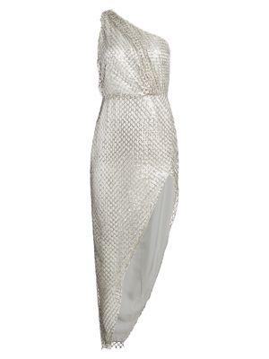 Sequin One-Shoulder Sheath Dress