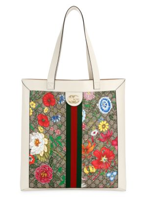 Ophidia GG Flora Large Tote