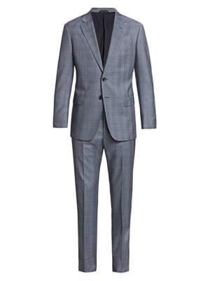 Windowpane Virgin Wool Suit