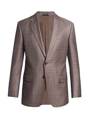 Windowpane Virgin Wool-Blend Sportcoat