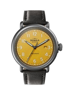 Runwell Automatic Leather Strap Watch