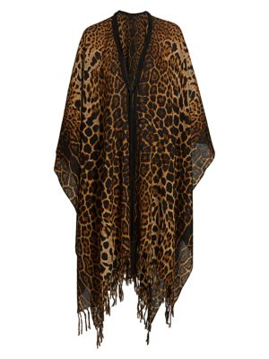 Leopard Poncho