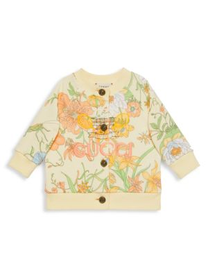 Baby's & Little Girl's Floral-Print Cardigan