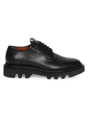 Leather Combat Derby Shoes